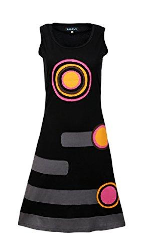 TATTOPANI Damen ärmel Sommer Sonne Kleid s mit bunten Flecken Entwurf