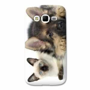 coque Samsung Galaxy Grand / Grand Plus animaux 2 - - chien vs chat B -