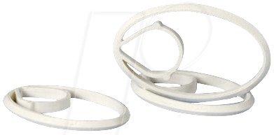 Preisvergleich Produktbild f-tronic Fixierungs-Clip für Rohre und Kabel, Inhalt 50, weiß, FClip