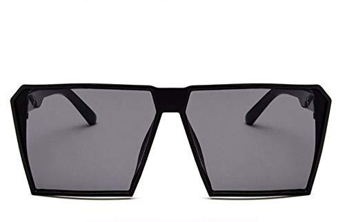 WSKPE Sonnenbrille Big Frame Übergrosse Sonnenbrille Quadrat Sonne Brille Gradient Schattierungen Eyewear Schwarzen Rahmen Graue Linse