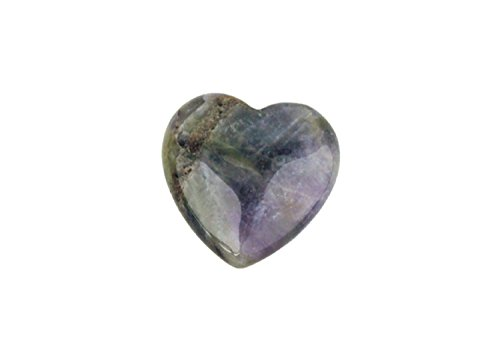Heart-shaped worry stones amethyst