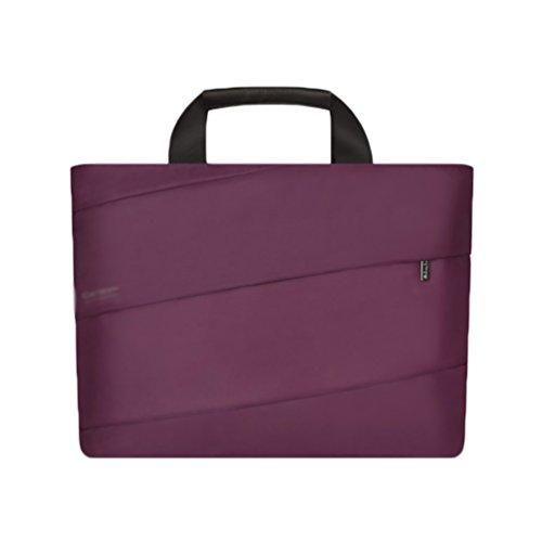 YiJee Donne Tessuto Nylon Borsa A Tracolla Sleeve Case per Laptop Computer Portatile Macbook da 11.6/12/13.3 Pollici 14 Inch Porpora
