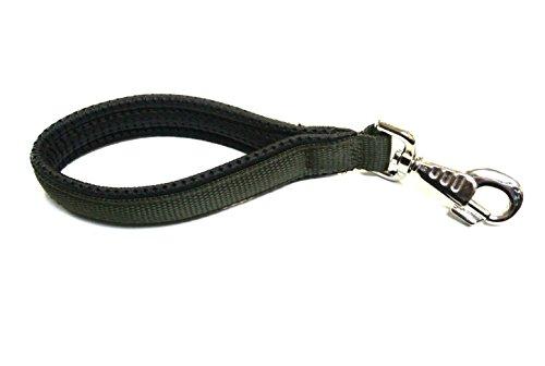Kurze Hundeleine mit gepolstertem Griff für Komfort, 25,4cm, verkehrssicher, in verschiedenen Farben erhältlich (Clip Gerillter)