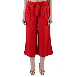 Rote Rayon Culottes Hose, Capri, Kurze Hose für Frauen, Mädchen