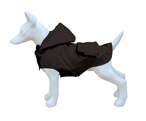 Freedog FD5000935 - Impermeable Plegable Bolsillo, para Perro, Color Negro