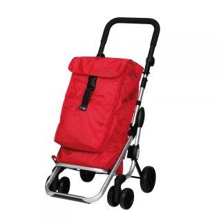 Einkaufstrolley aus Alu mit 4 Rädern und Thermofach Playmarket Go Up Red New Des (Kleine Kühltasche Mit Räder)