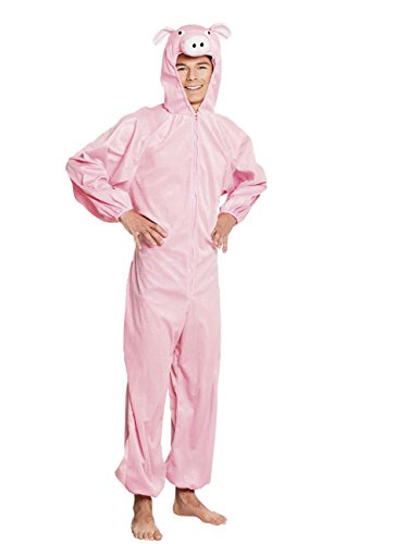 Boland- costume tuta peluche porcellino per adulti, rosa, max 1,65 m, 88412