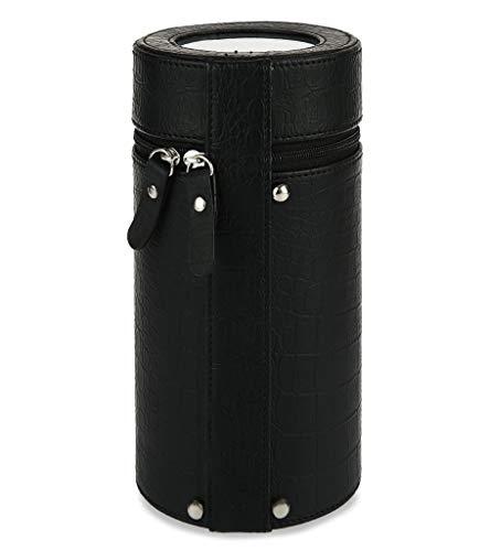 Rand Lagerung (JWINDERU Schwarz Automatischer Uhrenbeweger Zylinder einzelne Uhrenbeweger stumm Uhrengehäuse Lagerung Display Box Geschenk)