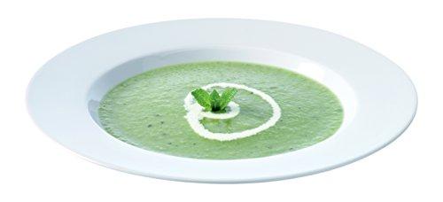 LSA International 25 cm Dine Assiette à pâtes/soupe ouverture, blanc (Lot de 4)