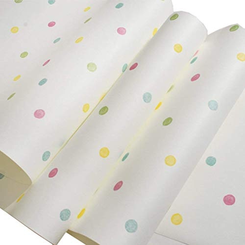 glow4u Papel pintado autoadhesivo con diseño de lunares, no tejido, papel de contacto decorativo para cajones, estantes y manualidades, 50,8 x 24,1 cm