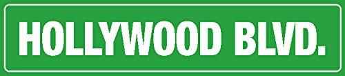 Schatzmix Hollywood BLVD. strassenschild grün blechschild 46x10cm