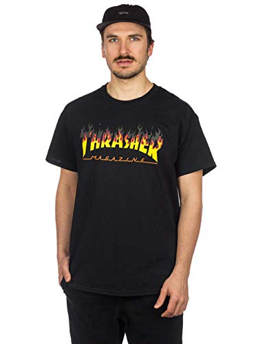 Thrasher magazine- t-shirt bbq - black - m