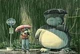 Pokémon pluie Totoro parodie Snorla Arrêt de bus parapluies Mouse Pad, Mousepad (25,9x 21,1x 0,3cm)