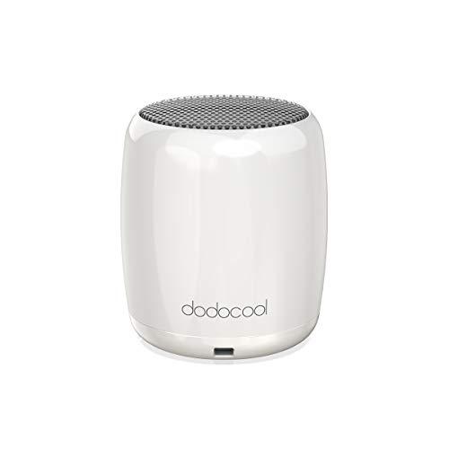 dodocool Bluetooth Lautsprecher, Mini Tragbar Bluetooth Speaker mit Freisprecheinrichtung und Shutter-Taste Selfie 45g (Weiß)