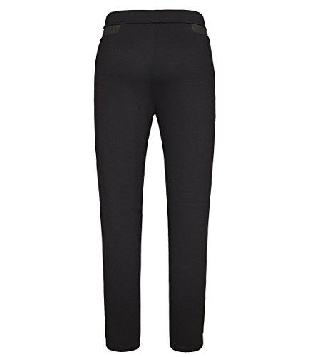 Chicwe Damen Große Größen Stretch Blended Cotton Skinny Leggings Pull-on Schwarz Weiß Hose schwarz EU46-58 Schwarz