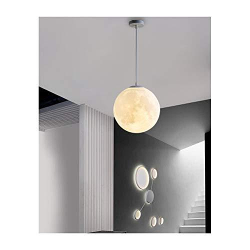 Luz de luna Lámpara de luna Lámina en 3D Iluminación para niños Luces de la habitación Restaurante nórdico Dormitorio Bola Araña Regulación de tres colores