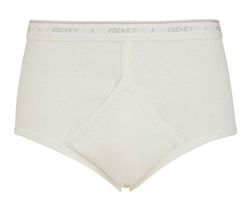 Jockey® Classic Cotton Rib Y-Front® Brief, White, Größe S (Y-front Brief)