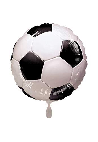 Balloon BANG - XL Folienballon - Fußball Soccer Championship Ball Motiv - 45cm - perfekte Geschenkideen zum Geburtstag Valentinstag Hochzeit, Party Dekoration, Schwarz