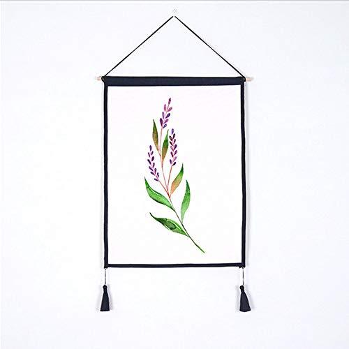 Djkaa Grünes Pflanzenblumenmuster - Hd-Digitaldruckwandkunst-Hängentuch - Hauptwanddekorationsmalerei, Ich