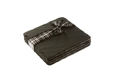 Just Slate Set of 4 Square Coasters 11cm by 11cm