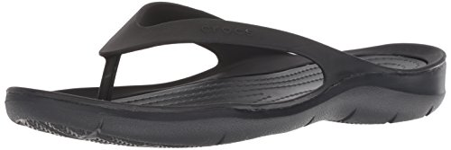 Crocs Damen Swiftwater Flip Women Zehentrenner, Schwarz Black 060, 39/40 EU