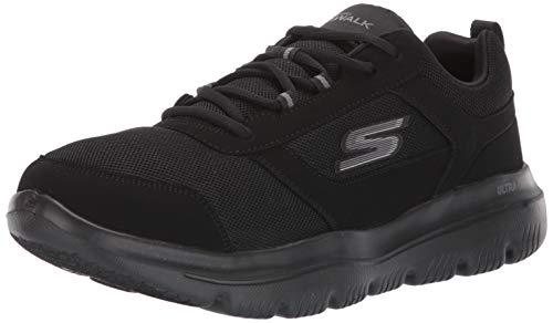 Skechers Herren Go Walk Evolution Ultra-enhan Sneaker, Schwarz (Black Synthetic/Trim BBK), 47 EU