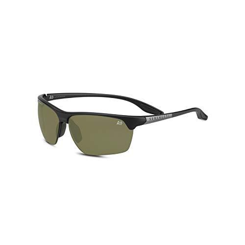 Serengeti Eyewear Erwachsene Linosa Sonnenbrille, Satin Black/Dark Gun, Medium/L