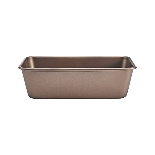Chicago Metallic 5212093 Elite Non-Stick Carbon Steel Loaf Pan, 9-Inch-by-5-Inch, Bronze (Pan Mini Chicago Cake Metallic)