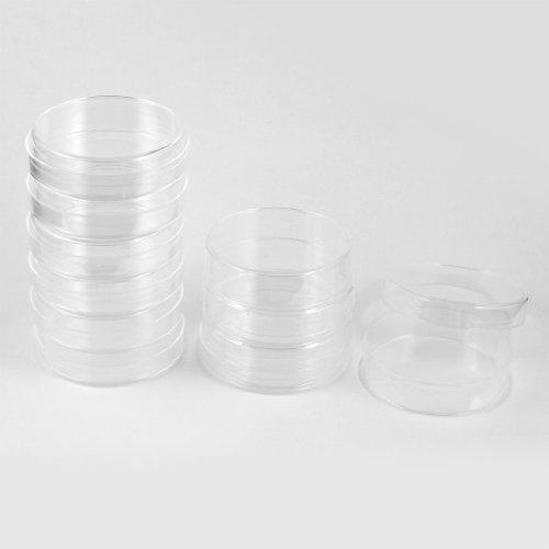 Sourcingmap Labor 90mm Dia Zylindrische Transparent Zellkultur Schale 10Stück
