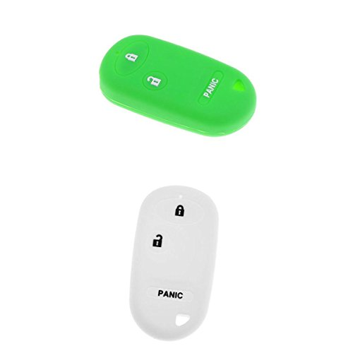 Homyl Auto Silikonhülle Schlüssel Deckel Silikon Schutz Shell Schlüssel Fob -Farbe Auswahl - Grün Weiß