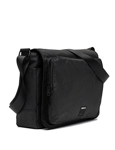 Replay Men's Men's Denim Black Messenger Bag Black