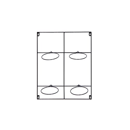 Home Vierfach-haken (Artstone Topfregal Amy vierfach D13cm schwarz)