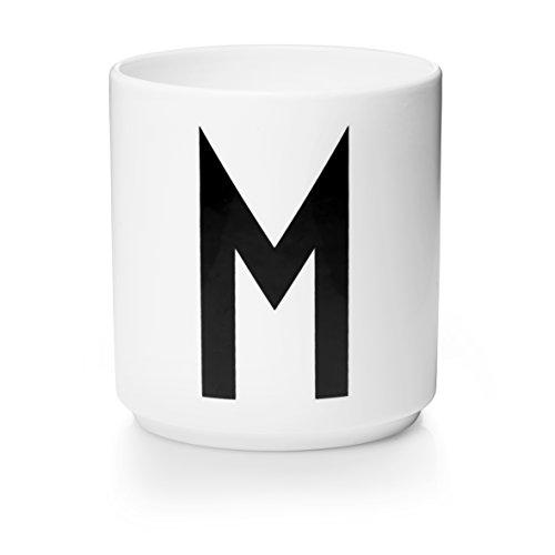Design Letters - Becher - Buchstabentasse - Buchstabe: M - Porzellan - Arne Jacobsen