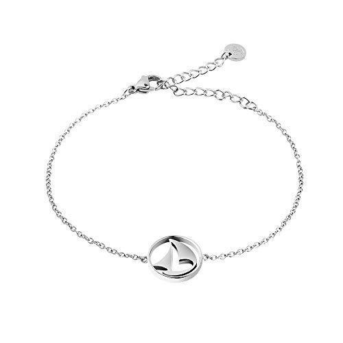 PAUL HEWITT Armkette Damen Silber Sail Away - Edelstahl Armband Damen mit Damen Schmuck Anhänger in Silber aus Edelstahl (Segelboot)