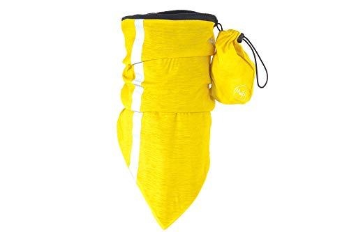 Max&Fred - Adulte Multifonctionnel Chapeaux Primerose Yellow, Shine Ultra - Line, avec polaire et 2 bandes réfléchissantes