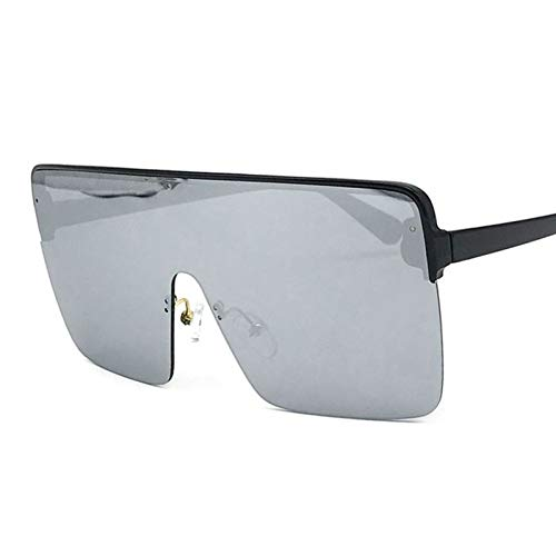 TIANKON Oversize Half Frame Square Sonnenbrille Frauen Schutzbrille Uv400 Schutzbrille,A4d