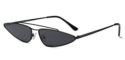 ZUIBADUDU kleine dreieckige Sonnenbrille Frauen Metall rosa Gold Schwarze cat Eye Sonnenbrille für Frauen Geschenk uv400 Gold mit schwarz voll schwarz