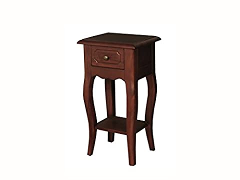 Claire Mahogany Telephone Table - Small Console Hall Table with 1 Drawer - Finish : Mahogany - Living Room - Hallway - Dining Room Furniture by The One