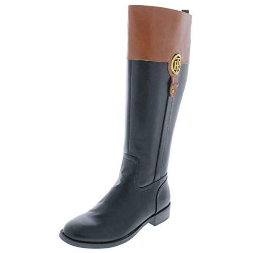 Tommy Hilfiger Frauen Ilia 4 Pumps rund Leder Fashion Stiefel Schwarz Groesse 6 US /37 EU -