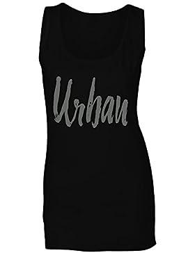 Urbano en gris camiseta sin mangas mujer c172ft
