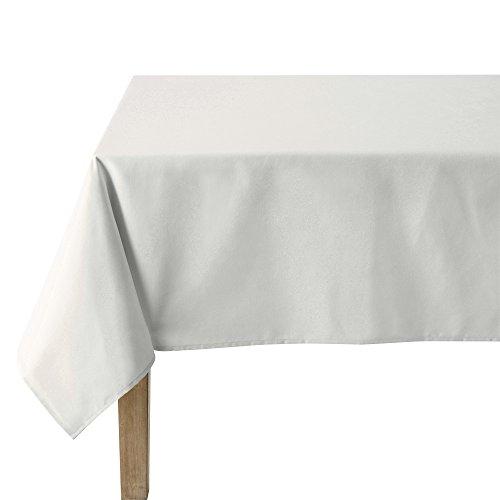 Coucke Nappe Rectangle Uni Blanc Coton 180 x 300 cm