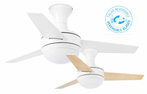 311Ghgumk6L - Faro Barcelona 33454–Mini UFO Ceiling Fan White