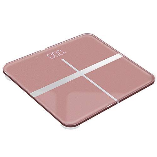 MQQ Präzisionswaage Haushalt Adult Baby Intelligente Waage (Color : Pink) - 2 Erhöhten Panel