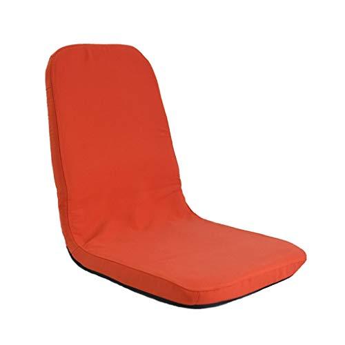 FENGLIAN Sofá cómodo Meditationsstuhl Lazy Couch Schlafzimmer Lounge Chair Japanischer Tatami Stuhl Legless Klappsofa Single Bay Window Rückenlehne Stuhl (Color : ORANGE, Size : 89 * 38 * 5CM)