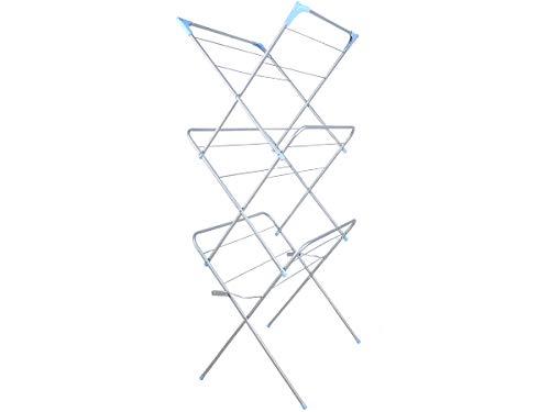 Iso Trade Turm Wäscheständer Wäschetrockner Wäscheturm klappbar Flügelwäschtrockner #4381