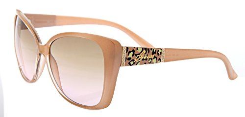 Guess Large Flared Square Sunglasses in Pearl GU 7213 PRL-62 58 58 Brown Gradient
