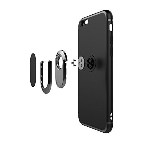 MOONCASE iPhone 6/iPhone 6s Custodia, AntiGraffio Antiurto Protezione Supporto per Auto Cover Ultra Slim Flessibile TPU Armatura Defender Case per iPhone 6/iPhone 6s 4.7 Rosa Rosa