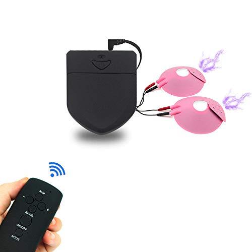 Elektro Shock Nippelsauger mit Wireless Fernbedienung, Elektrostimulation Nipple Sucker/Brüste Saugerpumpen, Elektrosex Stimulation Folter BDSM Fetisch Sexspielzeug für Frauen und Männer
