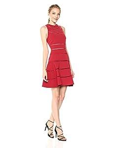 Keepsake The Label Women's Heart Beat Ss Dress, red, M