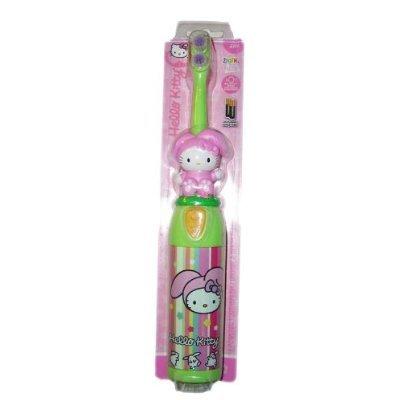 HELLO KITTY - elektrische Zahnbürste - Kinder - Weiche Borsten - Grün/Bunt/Gestreift